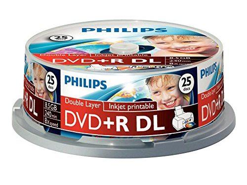 philips dvd r rohlinge 8 5 gb data 240 minuten video 8x. Black Bedroom Furniture Sets. Home Design Ideas