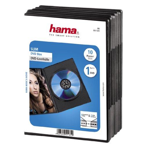 hama dvd h lle slim auch passend f r cds und blu rays. Black Bedroom Furniture Sets. Home Design Ideas