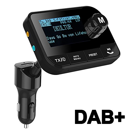 blufree car dab digital radio adapter fm transmitter. Black Bedroom Furniture Sets. Home Design Ideas